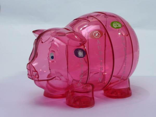 Kinder-Cash Schwein pink 1 Sprache