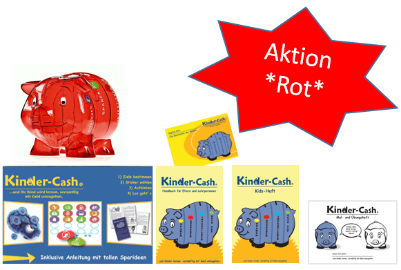 Aktion Kinder-Cash Schwein rot 1 Sprache