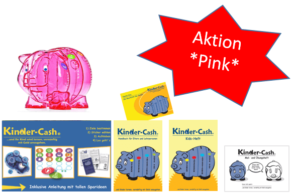 Aktion Kinder-Cash Schwein pink 1 Sprache