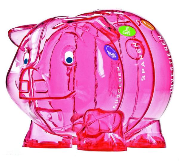 Kinder-Cash Schwein pink 3 Sprachen