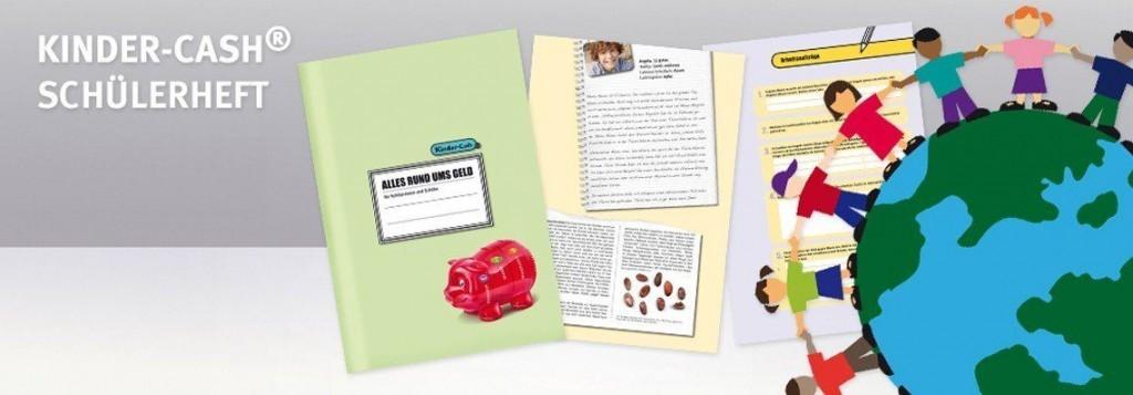 Sparschwein für Kinder und Heft für Schüler