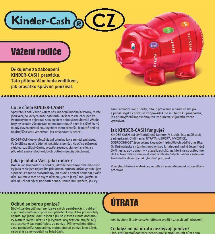 Anleitung zum Sparschwein für Kinder tschechisch