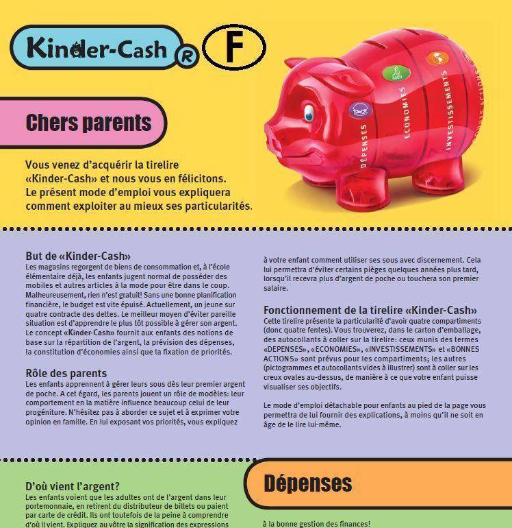 Anleitung zum Sparschwein für Kinder französisch