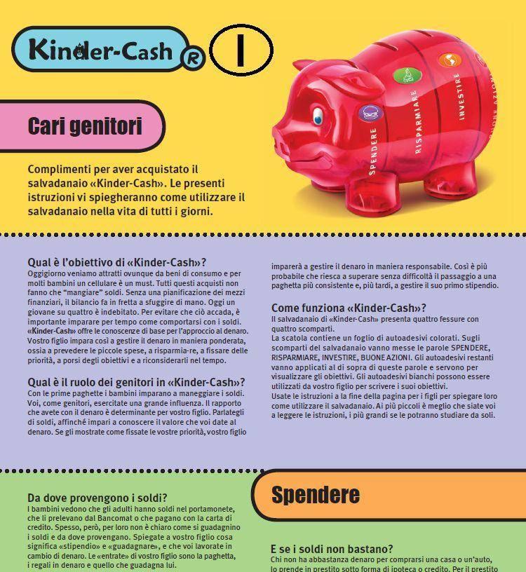 Anleitung zum Sparschwein für Kinder italienisch