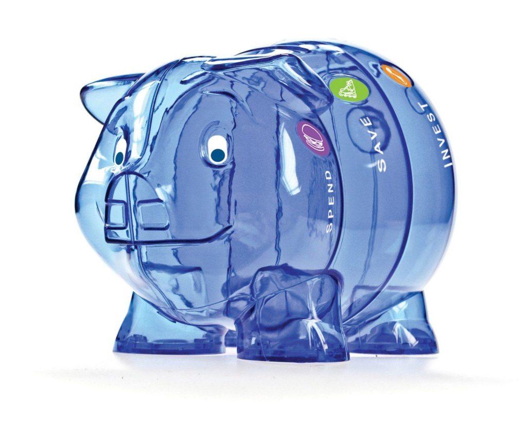 Kinder-Cash Piggy Bank blue