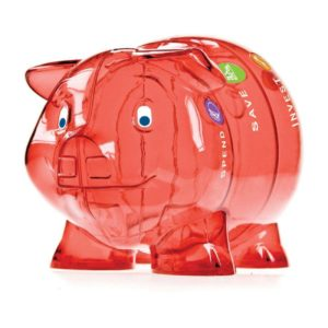 Kinder-Cash Piggy Bank red