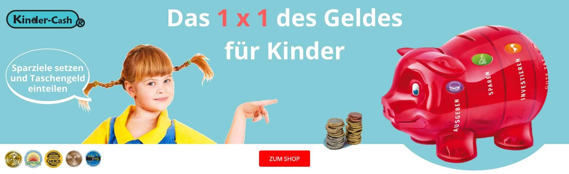 Kinder-Cash Sparen lernen