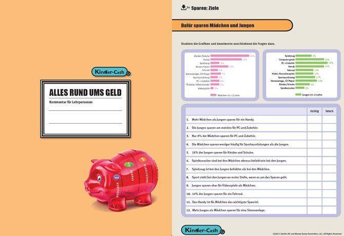 Sparschwein Lernmaterial für Schulen