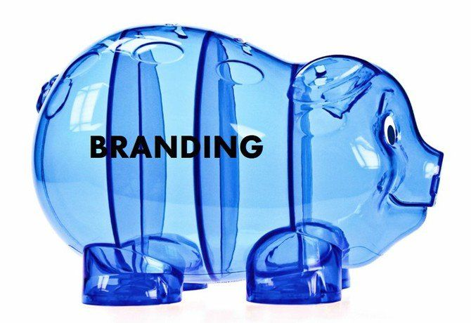 Sparschwein blau mit Branding