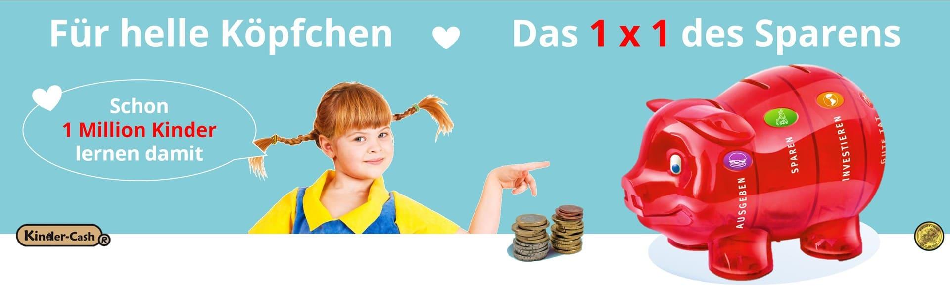 Sparschwein Kinder-Cash Taschengeld