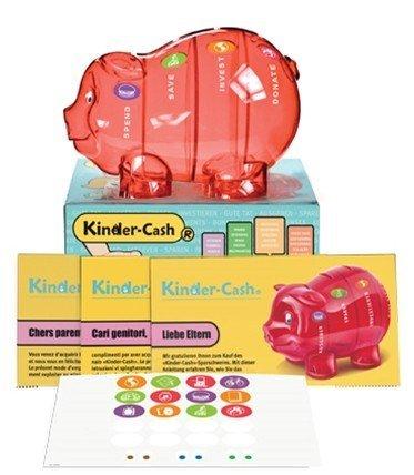 Sparschwein Spardose Kinder rot Taschengeld Sackgeld