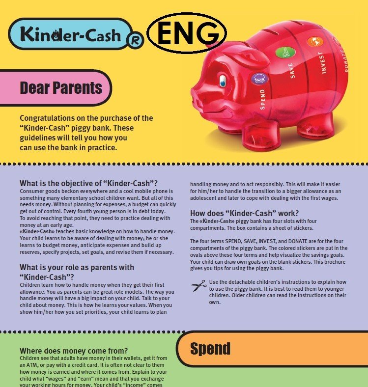 Kinder-Cash Booklet Parents