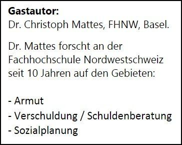 dr. christoph mattes, dozent armut Verschuldung FHNW, vita